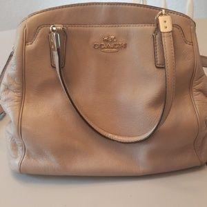 Light gray leather Coach bag